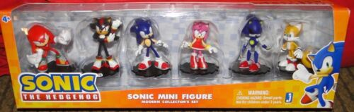 "Jazwares Sonic The Hedgehog Sonic /""Modern Collector/'s Set Figures New Rare"