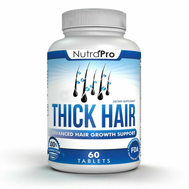 Hair Growth Vitamins >> Thick Hair Growth Vitamins Anti Loss Dht Blocker Stimulates Fast For Weak Thin