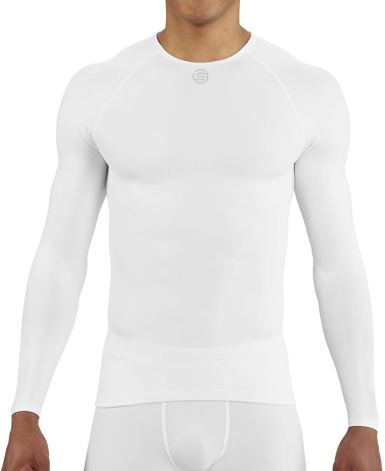 SKINS DNAmic Team Long Sleeve Mens Thermal Training Top - White