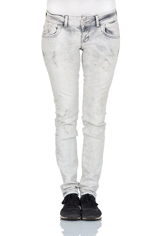 L4455 LTB Damen Jeans Molly Slim Fit - Grau - Malissa Wash, Größe  W 31 L 32