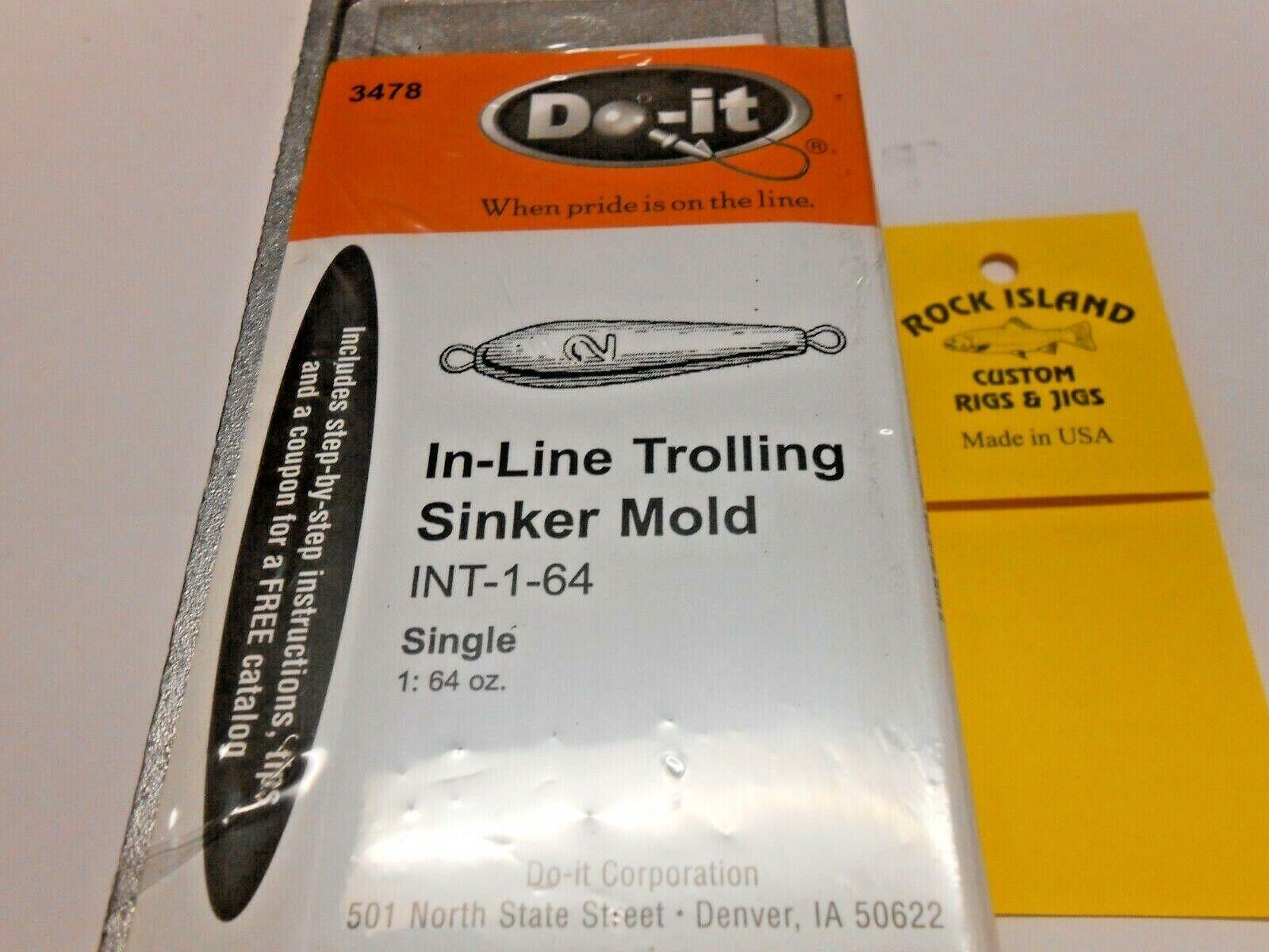 . INT-1-64 avec 10 Gratuit laiton yeux environ 1814.34 g 3478 NEW DO-IT Plomb Moule Inline #3478 64 oz