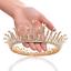 Bridal-Princess-Party-Crystal-Tiara-Wedding-Crown-Veil-Hair-Accessory-Headband thumbnail 4