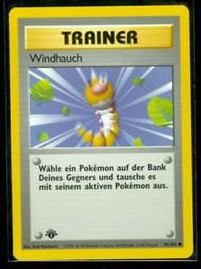 Pokemon Single Card Base Set Gust of Wind 93//102 NM//M Condition