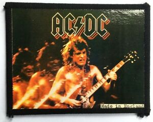 AC-DC-Angus-On-Stage-Old-OG-Vtg-1980-s-Photo-Card-Patch-not-shirt-lp-cd-badge
