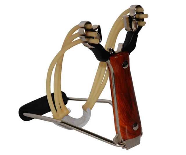 Powerful Steel Slingshot Catapult Folding Wrist-lock Hunting Sling Shot Outdoor