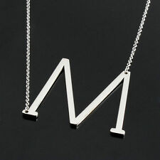 Personalized Stainless Steel Initial Large 26 A-Z Letters Pendant Necklace New