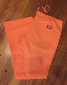 7a57a5d439617 Details about Womens Orange Dickies Medical Scrub Pants Size XS Elastic  Waist