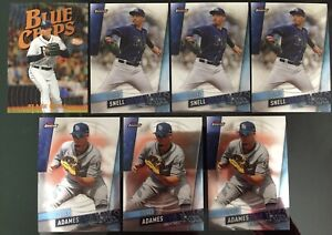 2019-Topps-Finest-lot-of-7card-40-Willy-Adames-amp-36-Blake-Snell-Tampa-Rays