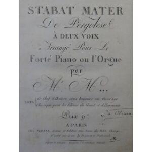 PERGOLESE-Stabat-Mater-Chant-Piano-ou-Orgue-ca1800-partition-sheet-music-score