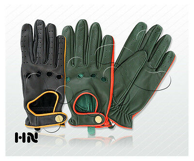 QHA® Womens Ladies Girls Black 100/% Genuine Sheep Real Leather Winter Gloves Q5