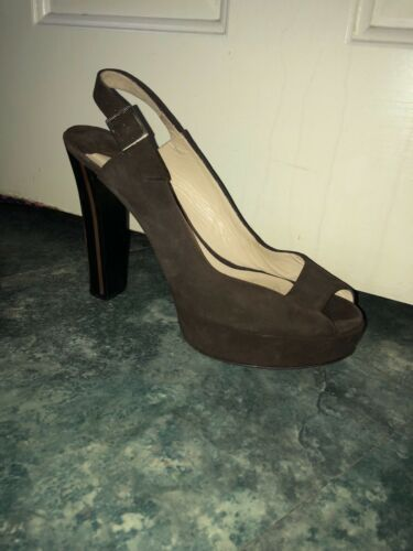 Chocolate Jimmy Usato Choos Size Platforms Womens 6 67RgA