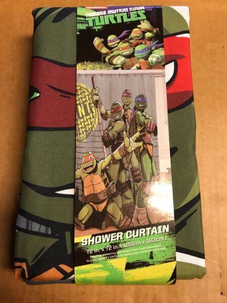 New In Box Teenage Mutant Ninja Turtles Shower Curtain 72x72