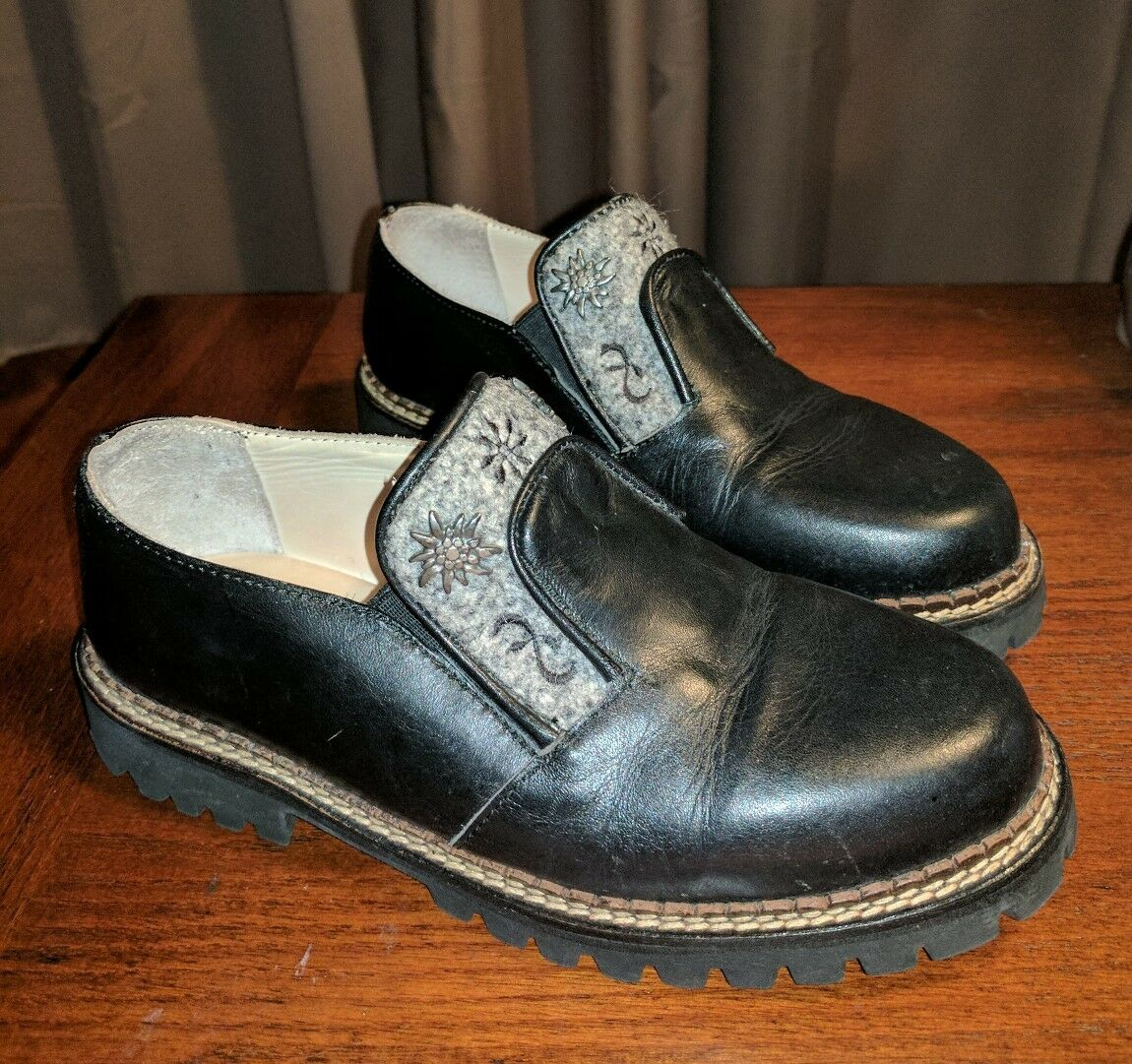 RARE GEIER WALLY AUSTRALIA AUSTRALIA AUSTRALIA noir LEATHER ANKLE bottes chaussures 37 US 6.5 7 GOTH PUNK 9940fd