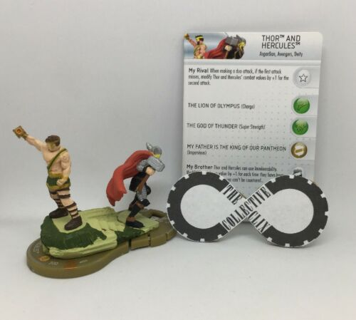 Heroclix Thor and Hercules 059 Chaos War Chase W Card