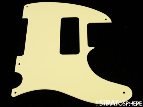 *NEW Vintage Cream P-90 Telecaster PICKGUARD for USA Fender Tele P90 5 Hole 1Ply