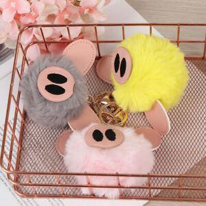 Awaken-cute-piggy-hairball-colorful-keychain-bag-key-support-bag-car-keychain-CJ
