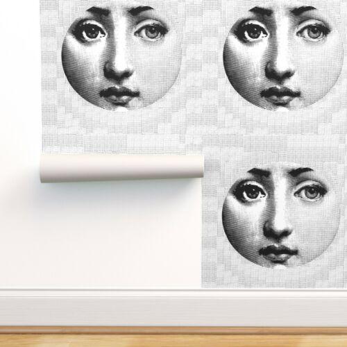 Wallpaper Roll 1950S Italian 1960S Pop Art Graphic Portrait Face 24in x 27ft