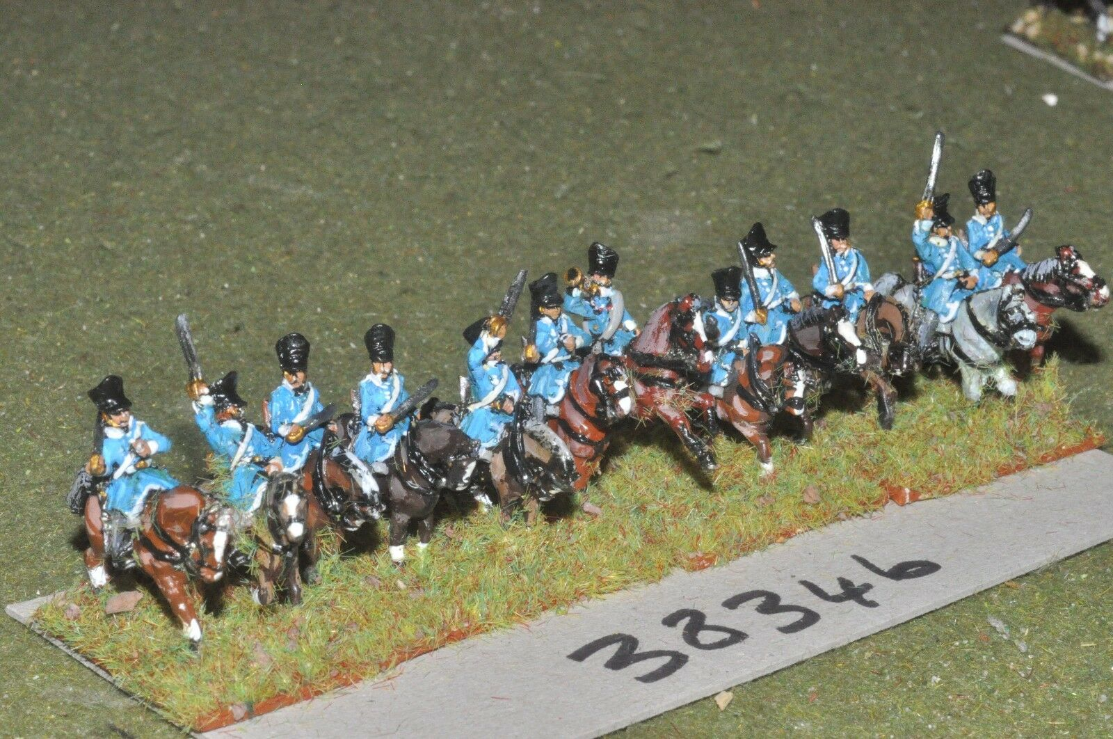 15mm napoleonic   prussian - dragoons 12 figures - cav (28346)