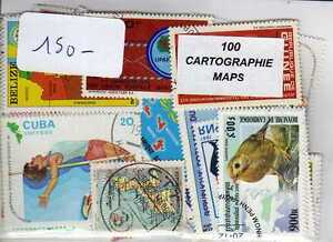 Efficace Cartographie 100 Timbres Différents