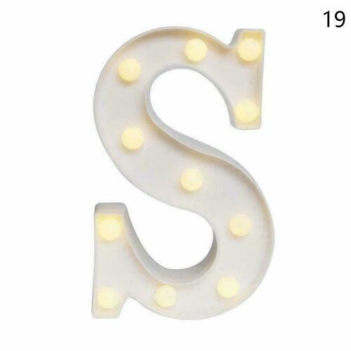 LED Light Up Large Alphabet Letters Warm White Light Stand English 26 A9J2