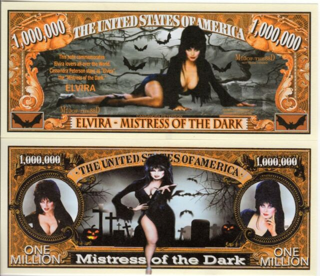 Elvira Mistress of the Dark Million Dollar Novelty Money
