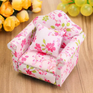 1-12-Dollhouse-Furniture-Set-Miniature-Living-Room-Floral-Sofa-Couch-Cu-Gift