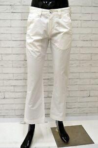 Pantalone-GUESS-Uomo-Taglia-Size-29-Jeans-Pants-Man-Cotone-Corto-Bianco-a-Zampa