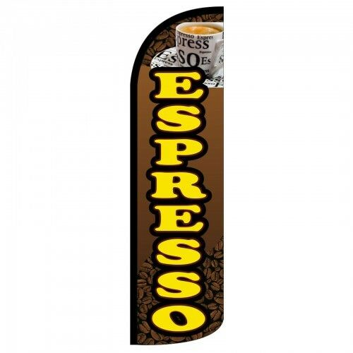 ESPRESSO Extra Wide Windless Swooper Feather Flag Sign  X 2