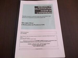 LIVRET 2 VAE AUXILIAIRE DE PUERICULTURE-LES 8 MODULE+LIVRET VIERGE*ENVOI 2 SUITE