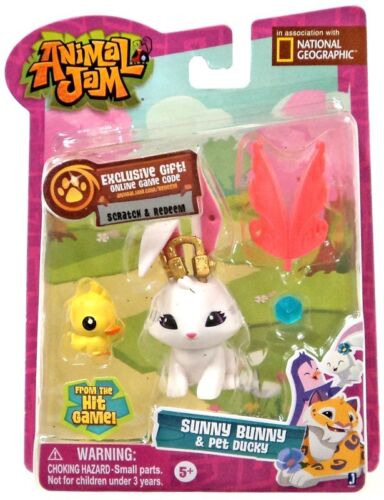 Animal Jam Sunny Bunny /& Pet Ducky Mini Figure 2-Pack