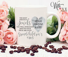 GRANDAD GRANDMA NAN NANNY JEWELS COFFEE MUG TEA CUP PERSONALISED PRESENT GIFT