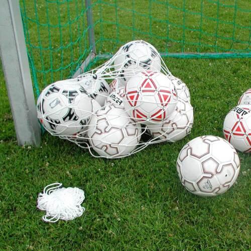 Trainingsbedarf Ballnetz für 12 Bälle weiß Neu Superspieler24
