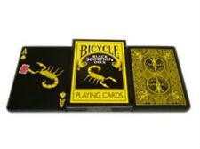 Black Scorpion Deck - Bicycle Playing Cards - Magic Tricks - New