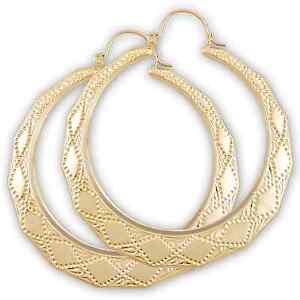 Image Is Loading 10kt Gold Hollow Door Knocker Drop Earrings Jewelry