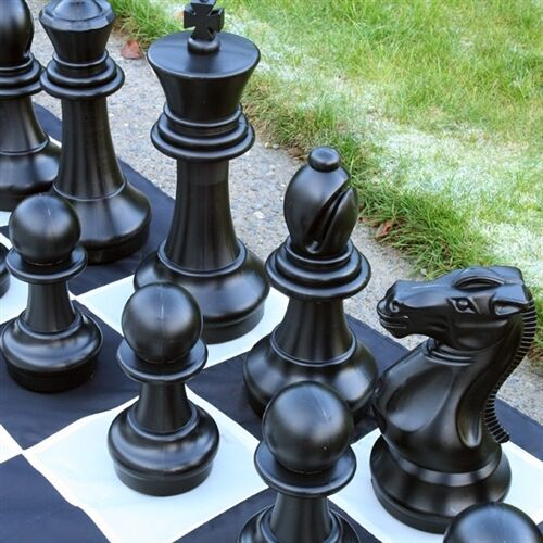 16  King Giant Chess set BIG Fun year round indoor outdoor lifetime skill