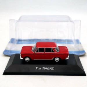 IXO-Altaya-1-43-Fiat-1500-1963-Red-Diecast-Models-Limited-Edition-Collection