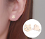 Cat /& Mouse Stud Earrings Gold or Silver