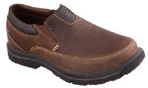 c3785f68b628 Skechers Superior Segment Brown Leather Men s Loafers MEMORY FOAM ...