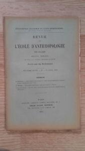 Recueil Mensual - Revista ESCUELA Antropología De París - 1899 - N º 4