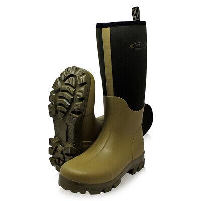 Preciso Dirt Boot ® Neoprene Foderato Guardiacaccia Wellington Muck Campo Stivali ® Cachi-mostra Il Titolo Originale Morbido E Antislipore