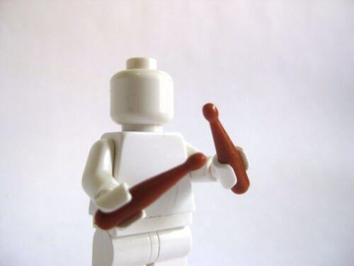 NEW Dark Orange Custom DRUMSTICKS For Lego Minifigures Rock /& Roll Musician
