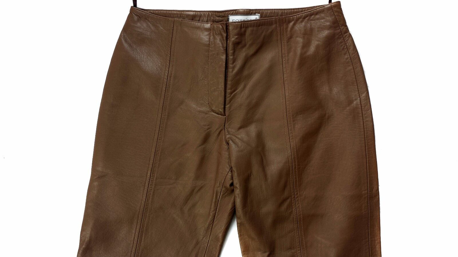 TOSKANA GENUINE LAMB LEATHER BROWN CAPRI PANTS LINED MADE IN TURKEY XL MSRP  199