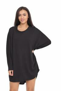 4874d315f0cb6 Image is loading Womens-Ladies-Bow-Back-Baggy-Long-Batwing-Oversized-