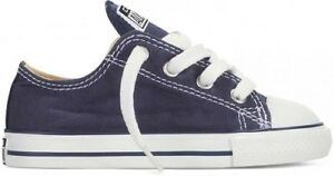 Boy-039-s-Girl-039-s-Toddler-CONVERSE-ALL-STAR-Chuck-Taylor-Navy-Blue-Shoes-7J237-NEW