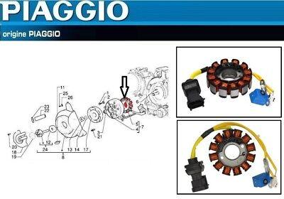 Piaggio X8 125 Ht Bobine Allumage avec Couvercle