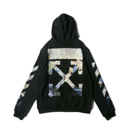2019 KANYE WEST OFFWHITE style C//O Oil Painting Rare sold out GOD Hoodie
