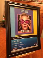 "BIG 10x13 FRAMED ORIGINAL LADY GAGA ""JOANNE"" LP ALBUM CD & WORLD TOUR PROMO AD"