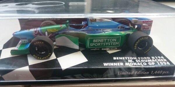 1 43 MINICHAMPS benetton b194 Winner Monaco GP Schumacher 1994