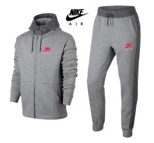 Details about Nike Mens Tracksuit Bottoms Fleece Air Joggers Zip Hoodies Sweatpants Hoody