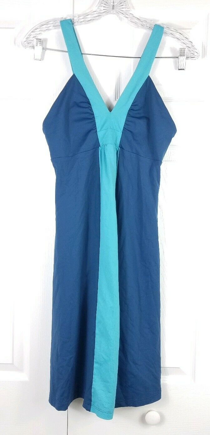 1c22a509e63 PATAGONIA womens size S in bra sleeveless navy teal outdoor dress ...
